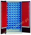 szafa warsztatowa z pojemnikami GS/w-205 (80+80 szt na drzwiach + 72 szt na tylnej ścianie)